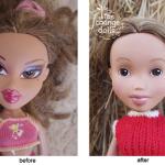Nagy átalakulás: túlsminkelt, szexualizált babák átalakítása, természetes mégis egyedi babákká